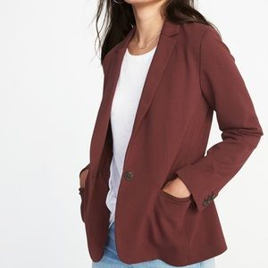 Old Navy Classic Ponte Knit Burgundy Blazer XL